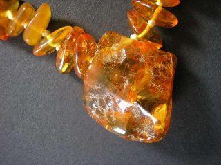 Natur Bernstein Kette Baltic Honigfarben Natural Baltic Amber 26 Gramm Schmuck Bild