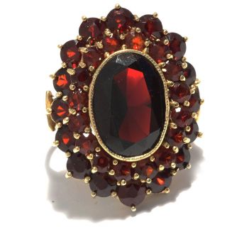 Riesig: Antiker Großer Granat Ring Gold Antique Garnet Carbuncle Ring Granate 8k Bild