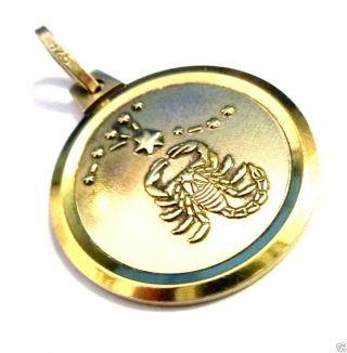 Schöner Silberanhänger 925er Silber Vergoldet Sternzeichenanhänger Skorpion Bild
