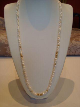 Echte Perlenkette Mit 585 Gold Bild