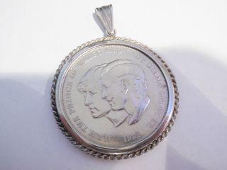 Münzanhänger Silber 835 Er Lady Diana Und Prince Of Wales1981 835er Silber Bild