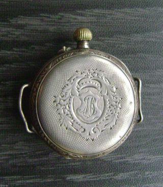 Uhr - Silberuhr 10 Rubis Remontoir Funktionstüchtig Bild