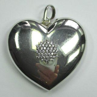 783 - Opulenter Herz Anhänger Aus 925 Silber Mit Zirkonia - - - Video - 1441 - Bild