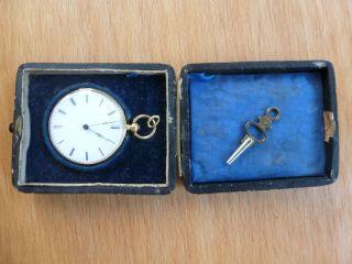 Goldene Antike Taschenuhr Bild