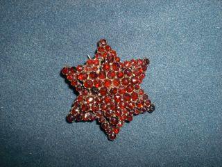 Weihnachten Sammler Erbstück Wunderschöne Granat - Brosche Von Meiner Uroma Bild