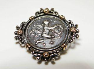 Historismus Brosche Silber Engel Historism Brooch Silver Angel As004 Bild