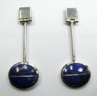 625 - Stilvolle Ohrstecker Aus 925 Silber Mit Lapislazuli - - - Video 1367 Bild