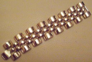 Breites Wuchtiges Armband In Gold Vintage Schmuck 70er/80er Jahre Bild