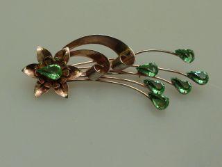Vintage Designer Brosche Blütenstrauß Sterling Silber 925 Corocraft Usa Bild