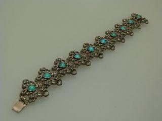 Trachten Armband Silber TÜrkis Floral Um 1950 Gestempelt 800 Bild