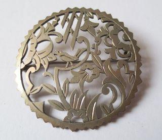 Brosche,  Filigran,  Antik,  Silber 900 (93) Bild