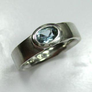 875 - Aparter Ring Aus 925 Silber Mit Blauem Topas - - - Video - 1328 - Bild