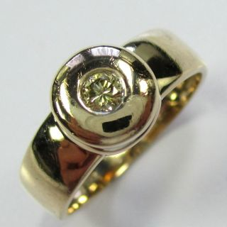 622 - Aparter Ring Aus Gold 585 Mit Gelbem Brillant - - - Video - 1463 - Bild