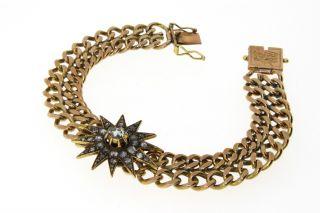 Edles Antkes Rotgold Armband Mit Diamtrosen - 14 Ct - Vk Ca.  3.  800,  - Bild