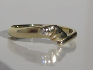 585 Diamantring 0,  02 Diamant Gelbgold Ring,  Goldring,  14 Karat Gold, Bild