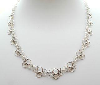 Antikes Silber Collier,  835 Gepunzt,  Top Bild