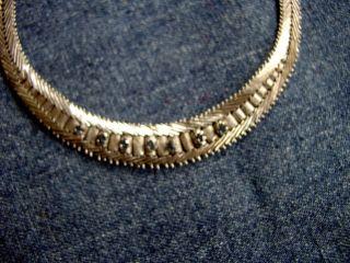 Collierkette Antik 835 Silber Mit 7 Saphiren Bild