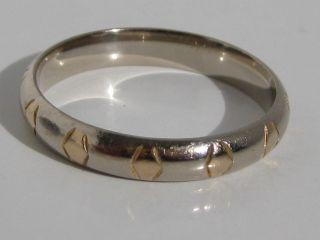Toller 585 Weiss/gelbgold Trauring Goldring 14 Karat Gold Ehering Verlobungsring Bild