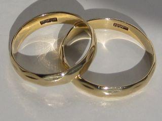 Zwei Passende Trauringe 585 Gelbgold,  Gold Goldring Ehering Trauring Ring Bild