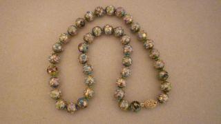 Alter Halskette Grösse Kugel Emaill Bild