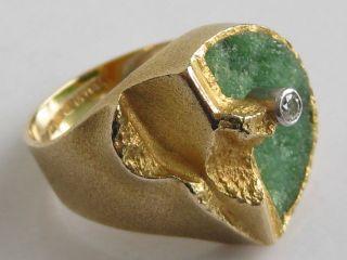 Lapponia 750 Gelbgold Ring Diamant Zoisit 750 Gold Designer Diamantring Bild