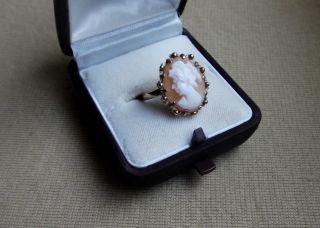 Edler 333 Echt Gold Gemme/kamee Ring Punziert,  Geprüft,  Beleg An Bei,  Ca 3,  1g Bild