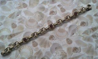 Art Deco Armband Mit Granatroten Farbsteinen Vergoldet Oresto Bracelet @@@@@@@@@ Bild