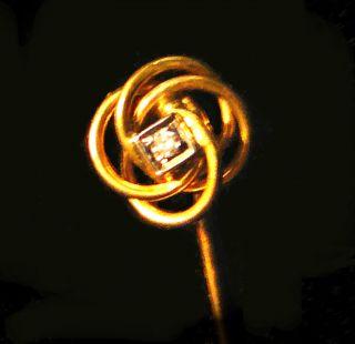 Elegante Kravattennadel Von Hofjuwelier A.  L.  Harms - Gold 585 Mit Brillant Bild