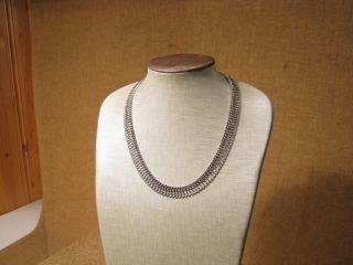 ▀ ▀ ▄ ▄ Alte Ausgefallene Halskette /835er Silber Um 1950 Bild