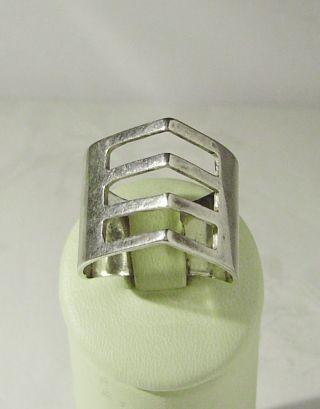 Interessanter Art Deco - Ring,  925er Silber / 19 Mm = Gr.  60,  5 / Echtschmuck Bild