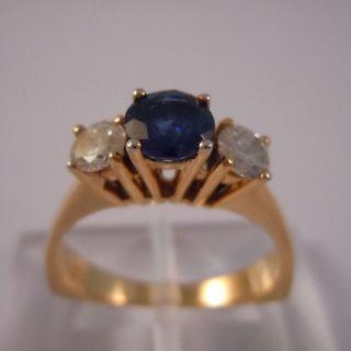 585 Gold Entourage Diamant Kashmir Saphir Ring Bild