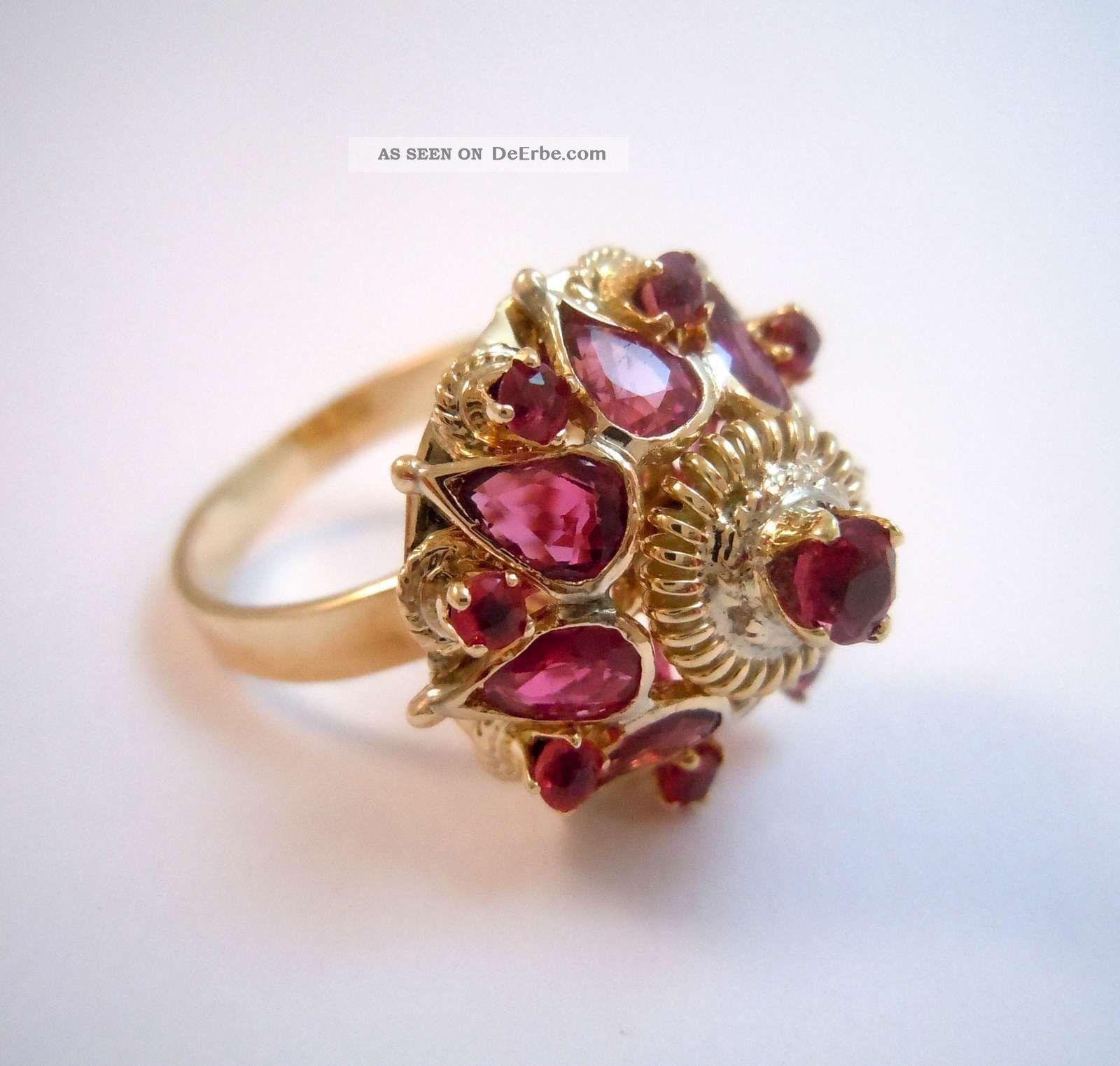 585 gold prunkvoller rubin pagoden ring wien um 1920. Black Bedroom Furniture Sets. Home Design Ideas