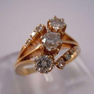 585 Gelbgold Diamant Haute Couture Ring - Wesselton 0,  76ct Bild