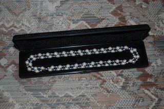? Echt Süßwasser Zuchtperlen Kette Halskette Perlenkette Perlen Muschelkern Bild