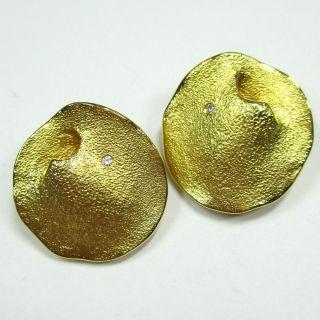 774 - Aparte Ohrclips - Gold 585 - 13,  17 Gramm - Brillanten - - - Video - 1472 - Bild