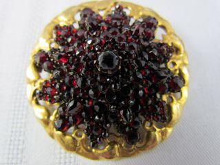 Antike Granat Brosche Stern 585er Gold Wunderschön 5 Cm Bild