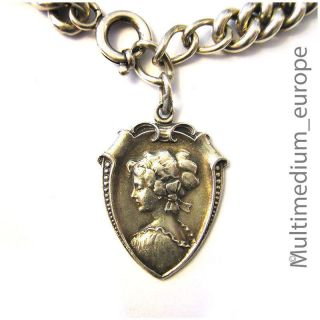 Jugendstil Silber Armband Anhänger Nouveau Silver Arm Chain Pendant Lady Bild