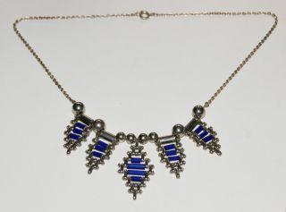 Vintage Halskette Collier Art Deco Bunge Bild