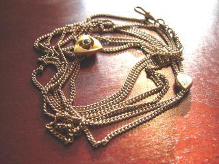 Uhrenkette Mit 2 Schiebern Gold Biedermeier 160 Cm Jugendstil Antik Bild