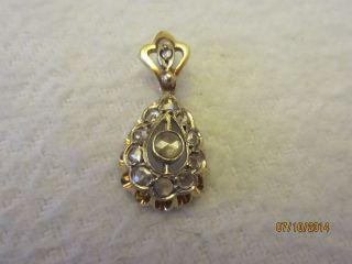 Antik Gold AnhÄnger Mit 12 Diamanten / 750 Gold Bild
