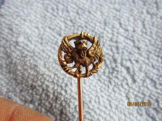 Antik FranzÖsisch Nadel / Reversnadel Aus Echt Gold / Frankreich 1838 - 1847 Bild