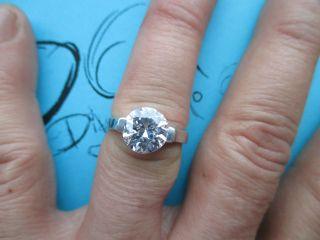 Antik Silber 925 Ring Mit Zirkonia Stein Hand Arbeit Bild