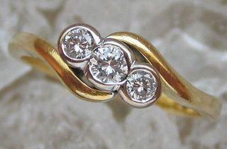 Brillant Ring In Aus 750 Gold Ring Artdeco Schmuck Mit Solitär Diamant Gelb Gold Bild