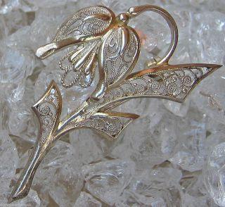 Silberbroschen Antikbrosche 800 Silber Brosche Blumen Brosche Jugendstil Schmuck Bild