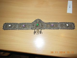 Brautgürtel Trachtengürtel Gürtelschließe Silber Filigran Bild