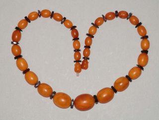 Traumhafte Butterscotch - Honig - Bernsteinkette - Real Amber - 42,  5gr - Große Oliven - 51cm Bild