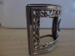 GÜrtelschnalle - - Jugendstil - - 925er Silber - London - - Massiv - - - Top Bild