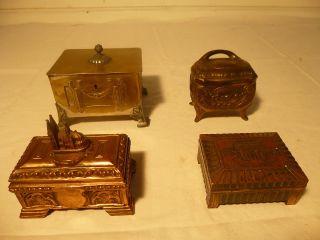 Vier SchmuckkiÄstchen Schmuckschatulle Schmuck Schatulle Jugendstil Art Deco Bild
