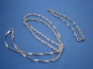 - - - - - - - - Traumhafte 925 Sterling Silber Kette Mit Passendem Armband - - - - - - - - Bild