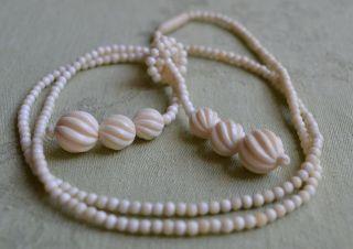 Art Deco Bein Perlen Kette Halskette Beinkette Länge 82 Cm Bild